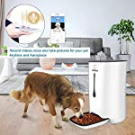 WOPET SmartFeeder,Automatic Pet Dog and Cat Feeder,6-Meal Auto Pet Feeder with Timer Programmable,HD Camera for Voice…