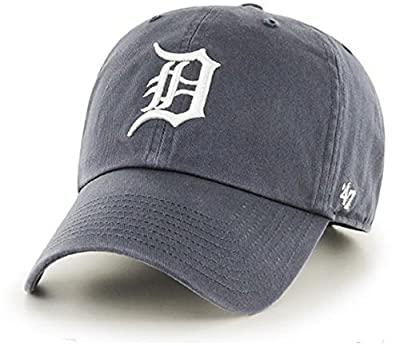 '47 Authentic Detroit Tigers Charcoal MLB CLEAN UP Adjustable