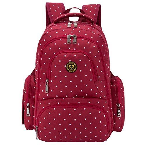 Waterproof Diaper Bag Red - 3