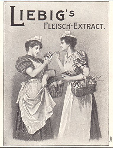 1903 Print Ad Liebig's Fleisch Meat Extract Food Additive Printed (Fleisch Extract)
