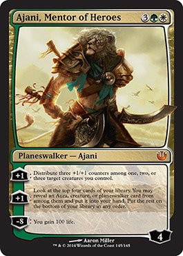 Magic: the Gathering - Ajani, Mentor of Heroes (145/165) - Journey into Nyx