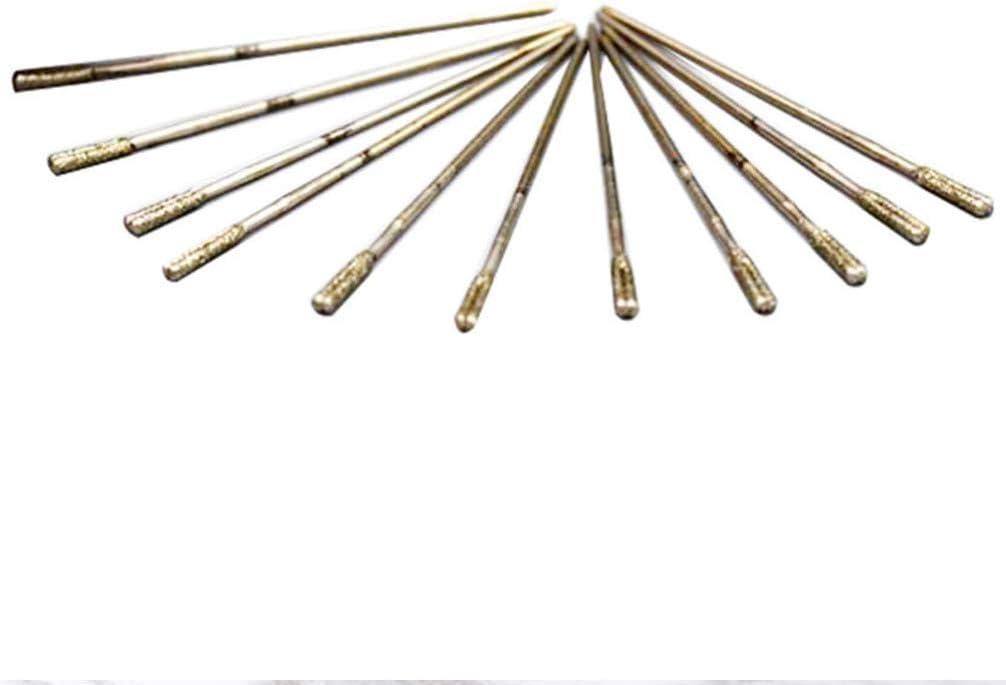 iplusmile Puntas de Perforaci/ón de Diamante de Aguja de Punzonado de 10 Piezas Herramientas de Perforaci/ón de Acero de Alta Velocidad Aguja de Punzonado para Perforaci/ón Punzonado Hogar Plata 1 2 Mm