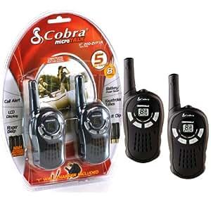 Cobra MT200 PMR - Juego de walkie-talkies (2 unidades, 8 canales), color negro