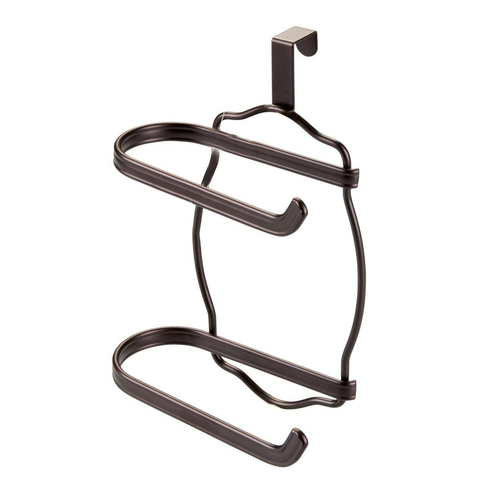InterDesign York Lyra Toilet Paper Holder for Bathroom Storage, Over the Tank - Bronze 62171