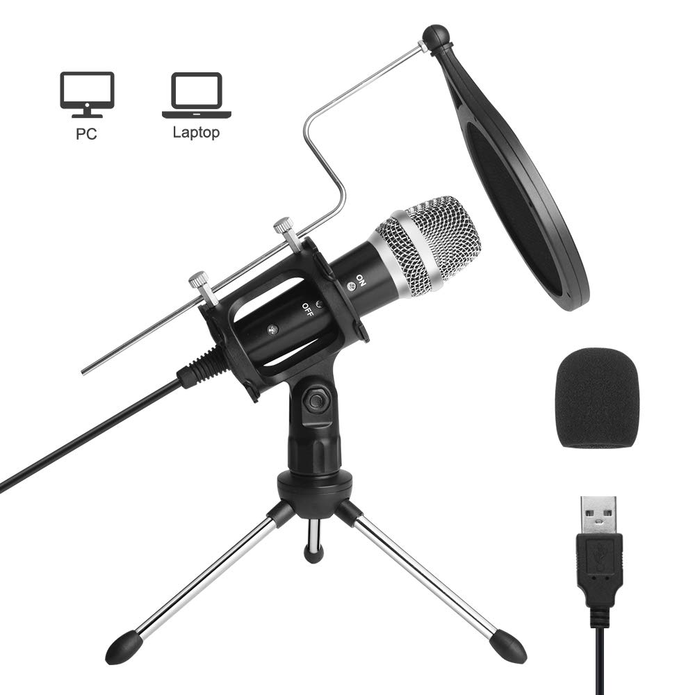 Microfono Usb Para Computadora, Microfono De Pc Archeer Para Computadora Portatil Mac O Windows, Microfono De Estudio Pr