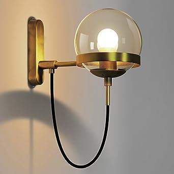 Postmodern Glaskugel Wand Lampe Loft Retro Amerikanischen Wandleuchte  Schlafzimmer Studie Leselampe Innendekoration Lampe ( Farbe :