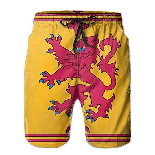Men Scotland Retro Flag Summer Breathable Swim Trunks Beach Shorts Board Shorts