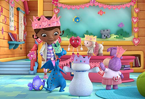 Eric 7x5ft Doc McStuffins Party Scene Setter Photo Photography Background Children Birthday Party Infant Toddlers Girls Photo Backdrop Studio Props -