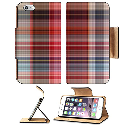 MSD Premium Apple iPhone 6 Plus iPhone 6S Plus Flip Pu Leather Wallet Case IMAGE ID 35943974 Abstract fabric plaid Cotton of colorful Texture (Not Upholstered Canvas)
