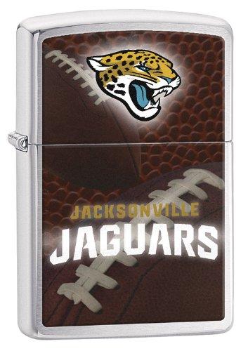 Zippo NFL Jacksonville Jaguars Brushed Chrome Pocket (Nfl Jacksonville Jaguars Zippo Lighter)