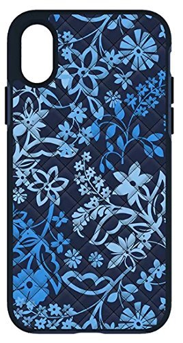 Vera Bradley Quilted Inlay Case for iPhone X - Java Floral Blue Multi