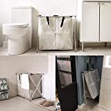SHAREWIN Double Laundry Hamper with Waterproof