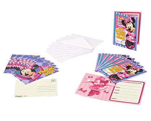 American Greetings Minnie Mouse Bowtique Invite and Thank You Combo, 8 Pack, Party Supplies