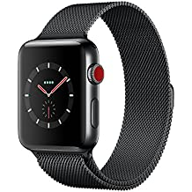 Apple Watch Series 3 42mm Space Black Stainless Steel Case with Space Black Milanese Loop (GPS + Cellular) MR1L2LL/A