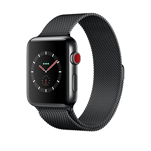 Apple Watch Series 3 42Mm Space Black Stainless Steel Case With Space Black Milanese Loop  Gps   Cellular  Mr1l2ll A