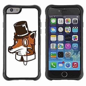 "A-type Arte & diseño Anti-Slip Shockproof TPU Fundas Cover Cubre Case para 4.7"" iPhone 6 ( High Class Fox Funny Illustration )"