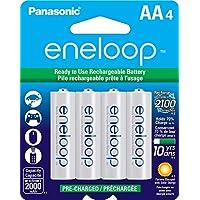 4-Pack Panasonic BK-3MCCA4BA eneloop AA 2100 Cycle Batteries