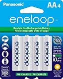 Panasonic BK-3MCCA4BA Eneloop AA 2100 Cycle Ni-MH Pre-Charged Rechargeable Batteries (Pack 4) - BK3MCCA4BF