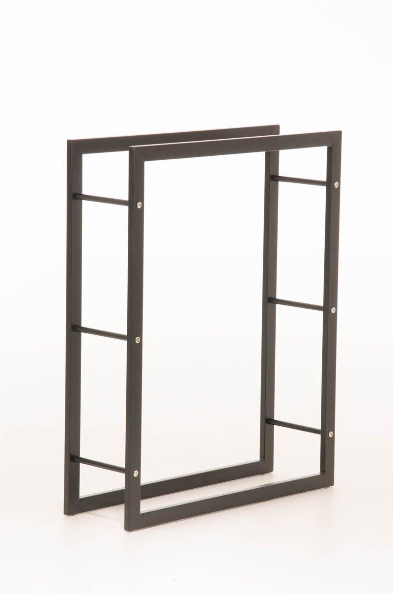 Clp Kaminholzregal Keri In Metall Optik In Matt Schwarzem Design