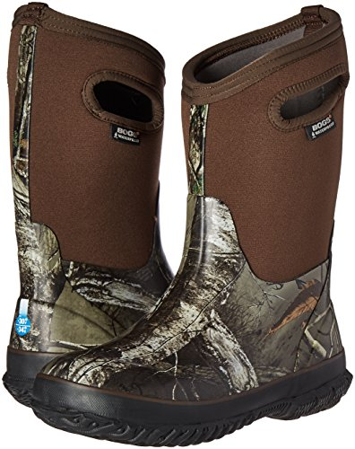 Bogs Kids Classic High Waterproof Insulated Rubber Neoprene Rain Boot, Camo Real Tree Print/Green/Multi, 11 M US Little Kid by Bogs (Image #6)