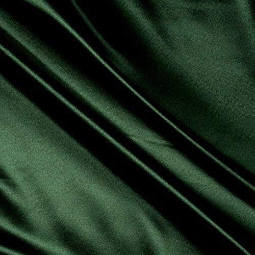- Ben Textiles Heavy Crepe Back Satin Green Fabric by the Yard