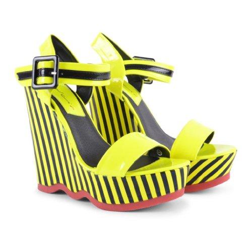 Dolcis - Sandalias de vestir de sintético para mujer Amarillo - Yellow / Black