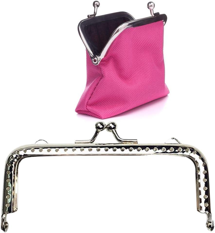 Prosperveil 5PCS Metal Purse Bag Frame Kiss Clasp Lock Rectangle DIY Clutch Bag Handbag Coin Purse Making Frames Clasps 10.5 cm