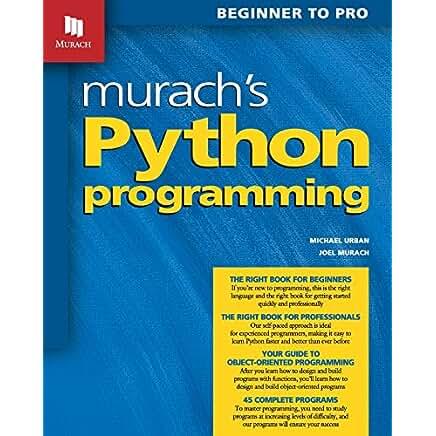 Murach S Python Programming By Michael Urban And Joel Murach Books