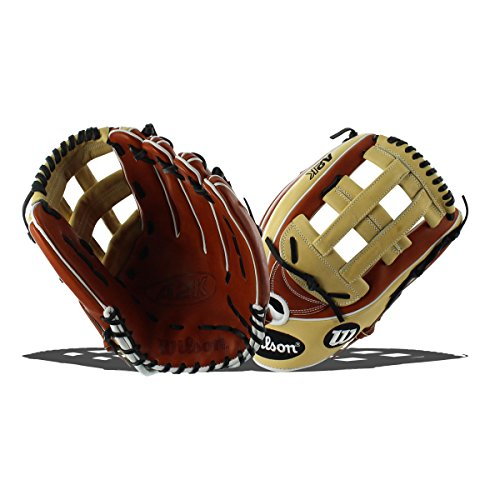 12.75 In Outfield Baseball Glove (Wilson 2018 A2K 1799 Outfield Right Hand Gloves, Copper/Blonde/White, 12.75
