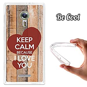 BeCool® - Funda Gel Flexible Alcatel Flash 2 BeCool Keep Calm Because I Love You Carcasa Case Silicona TPU Suave