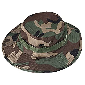 Bucket Hat Boonie Hunting Fishing Outdoor Cap Military Unisex Sun Camo Fashion