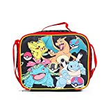 New Arrive 2017 Pokemon Pikachu Black & Red School Lunch Bag