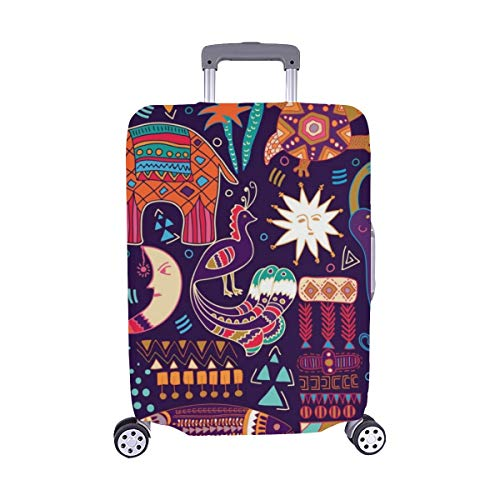 Abstract Colorful Tropic Spandex Trolley Case Travel Luggage Protector Suitcase Cover 28.5 X 20.5 Inch (Lycra Top Tropic)