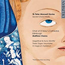 DAVIES. Sacred Choral Works. Choir of St Mary's Cathedral