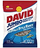 Cheap David Jumbo Roasted Salted Sunflower Seeds, Buffalo Ranch Flavor, 5.25oz Bags (Pack of 10)