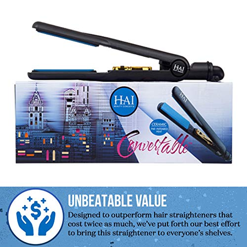 HAI Classic Convertable Professional Flat Iron with Holiday Travel Kit