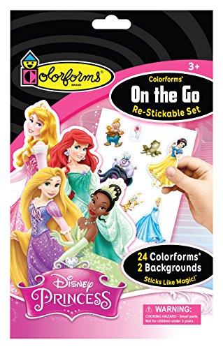 Colorforms Brand Disney Princess On The Go Restickable Set