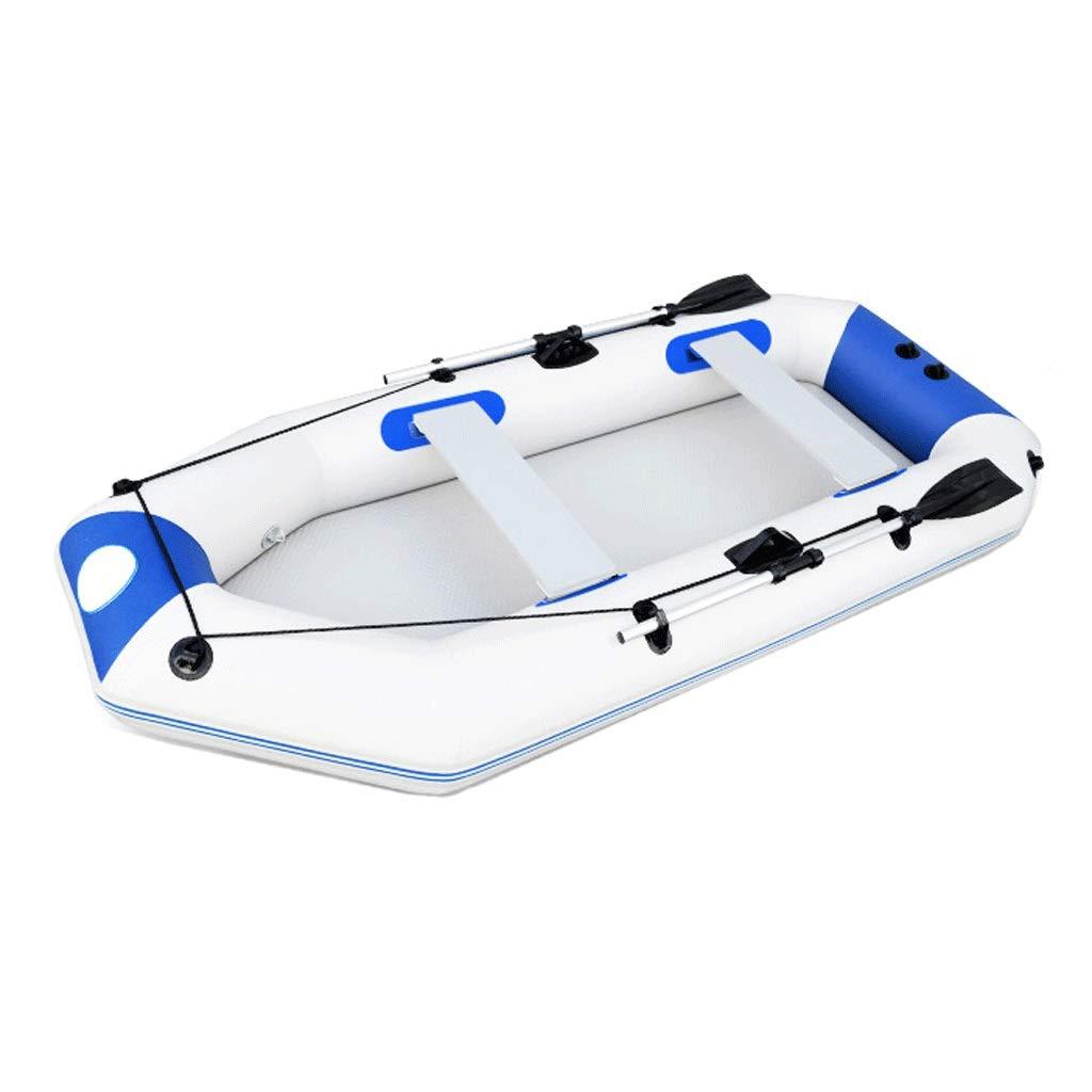 膨らませた起毛底板厚手のインフレータブルボートカヤックホバークラフト用3-4人、4-5人ポンプ+パドル A