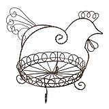 Pfaltzgraff Antiqued Hen Metal Chicken Basket, 12-Inch