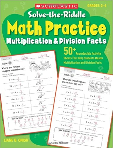 Amazon.com: Solve-the-Riddle Math Practice: Multiplication ...