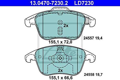 ATE 13.0460-7230.2 Bremsbelagsatz Scheibenbremse