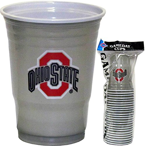 Siskiyou NCAA Ohio State Buckeyes Plastic Game Day Cups 2 Sleeves of 18 (36 (Ncaa Drinking Cups)