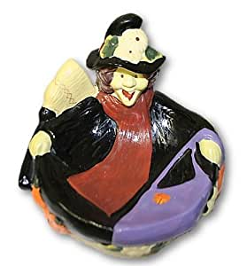 Ceramic Halloween Candy Dish (Witch)
