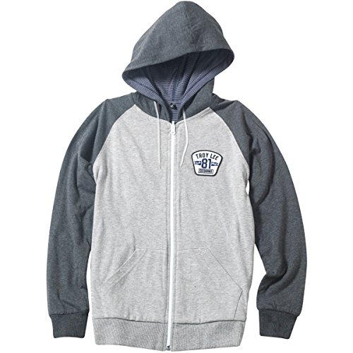 - Troy Lee Designs Youth Boys Redstone Reversible Fleece Hoody,Small,Heather Gray
