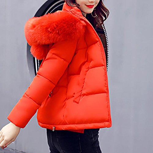 WINTER JACKET COAT PARKA FUR COLLAR SIZE HOODED Sonnena LADIES WOMENS NEW PUFFER QUILTED Orange wSqHCInq