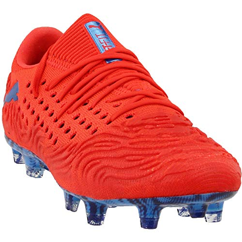 PUMA Mens Future 19.1 Netfit lo Firm Ground/Artificial Grass Soccer Casual Cleats, Red, 12
