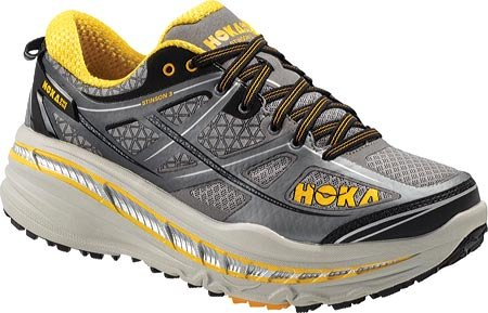 Hoka One One Mens Stinson 3 ATR Trail Running Shoes, Grey/Gold Fusion -