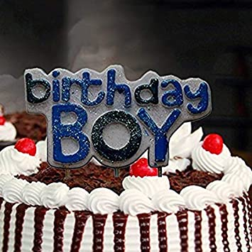Super Shreya Foods Birthday Boy Glitter Candle For Boy Birthday Funny Birthday Cards Online Hetedamsfinfo