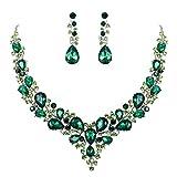 Best Necklaces 6 Pieces - BriLove Women's Wedding Bridal Austrian Crystal Teardrop Cluster Review
