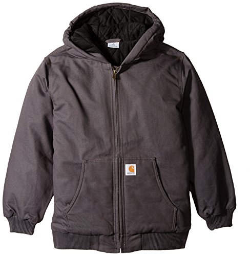 Carhartt Big Boys' Active Jacket, Asphalt, Medium (10/12)